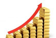 Giá Vàng thế giới lên cao nhất trong 2 tuần